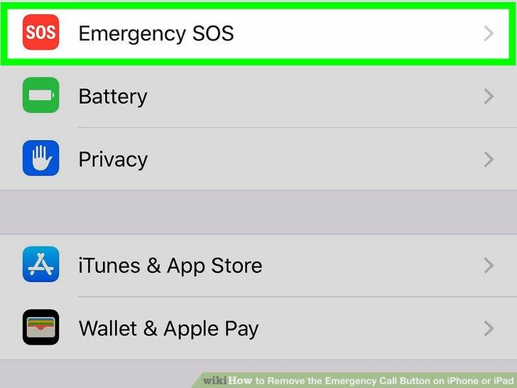 خاموش کردن Auto Call و Emergency SOS