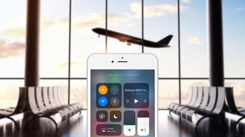 استفاده از وای فای آیفون در حالت پرواز